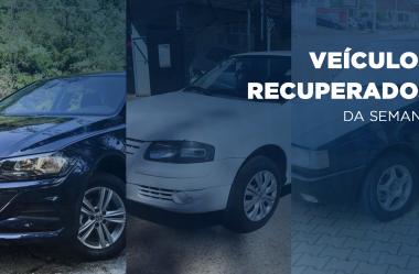Três veículos são recuperados pelo Rastreador Volpato