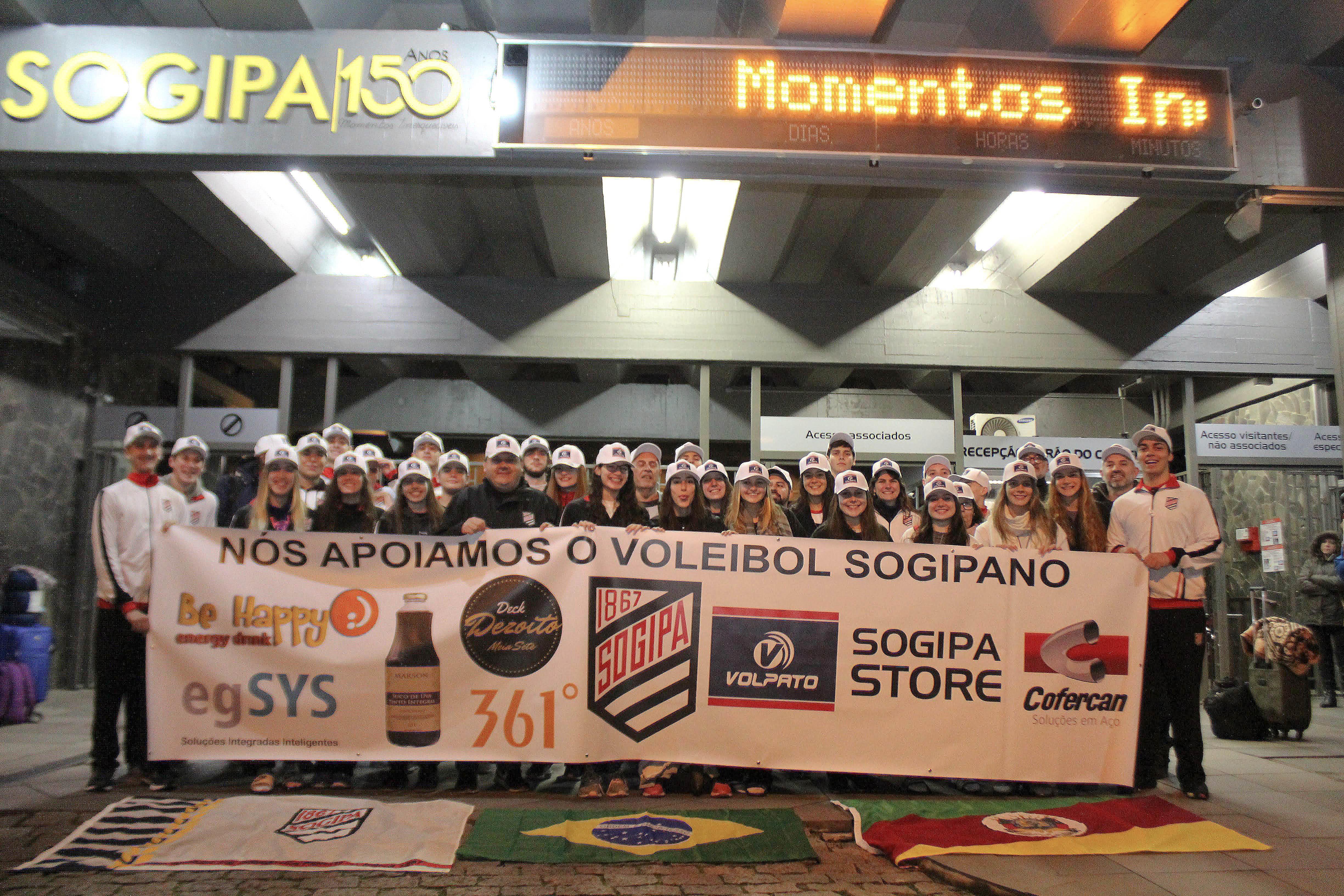Sogipa representa o Brasil em torneio internacional de vôlei