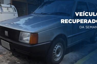 Fiat Uno 93 é recuperado graças a Rastreador Veicular
